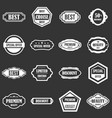 golden labels icons set grey vector image vector image