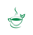 green tea logo icon vector image vector image