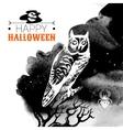 Halloween background Typographic poster vector image vector image