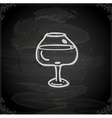 Hand Drawn Glass of Wine vector image vector image