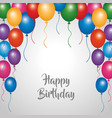 happy birthday card party celebration border vector image