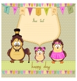 Happy family of owls vector image