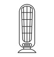 heater fan icon outline style vector image vector image