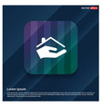home insurance icon vector image vector image