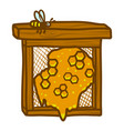 honeycomb frame icon hand drawn style vector image vector image