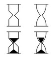 hourglass icon set vector image vector image