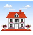 House on a blue sky background vector image vector image
