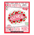 i love you - creative poster vector image vector image