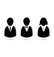 icon of people silhouette vector image