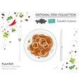 kazakh cuisine asian national dish collection vector image vector image