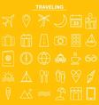 Linear traveling icon for website and app vector image vector image