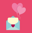 love letter design vector image vector image