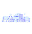 luxembourg city skyline city buildings vector image vector image