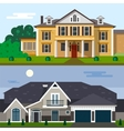 Luxury house exterior in flat vector image vector image