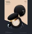 makeup powder cushion poster template illus vector image vector image