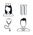 medical icons set isolated design vector image
