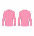 mens pink dress shirt vector image vector image