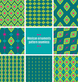 Mexican Folkloric tracery textile seamless pattern vector image vector image