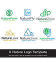 nature logo template vector image