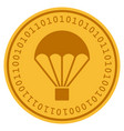 parachute digital coin vector image vector image
