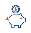 piggy bank with coin bank saving application vector image