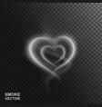 realistic smoke heart vector image vector image