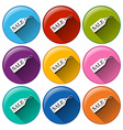 Rounded icons with sale tags vector image