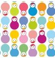 Russian dolls matryoshka seamless pattern on white vector image vector image