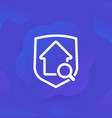 safe house search icon for web vector image vector image