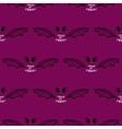 Seamless Pattern Halloween Bat vector image vector image