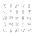 selfie icons set outline style vector image vector image