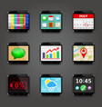 set app icons in mobile phone style vector image vector image