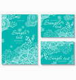 set templates for greeting card vector image