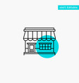 shop online market store building turquoise vector image vector image