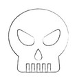 skull death head horror danger vector image