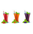 smoothie healthy berry drinks set vector image vector image