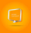 speech bubbles on orange background vector image vector image