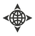 sphere arrows globe gps vector image vector image