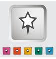 Star pin vector image vector image