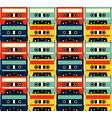 tape cassette music retro vintage seamless vector image vector image