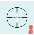 target icon isolated vector image