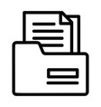 tax folder icon outline style vector image
