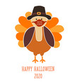 thanksgiving 2020 greeting card template fully vector image