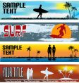 tropical beach web banner templates vector image
