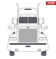 Truck symbol for delivery company vector image vector image