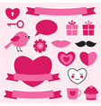 Valentines stickers set vector | Price: 1 Credit (USD $1)