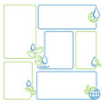water drop sprout ecology set of banner frames vector image