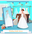wedding bridal dresses flat vector image