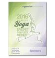 Yoga Event Poster Green Purple vector image