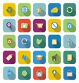 Ecology color icons with long shadow vector image